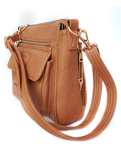 Handbag Concealed Leathers Gun Brown Roma Buckle Front wfqt8S