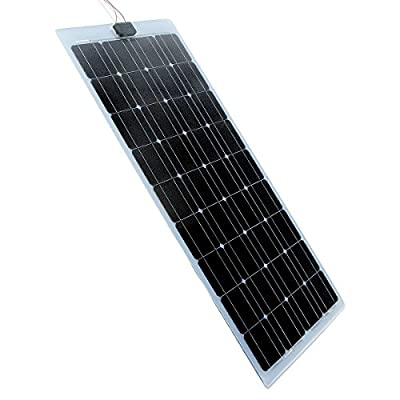 ECO LLC 200W Semi-Flexible Mono Solar Panel Cell Panel Yacht Home Roof RV Camper