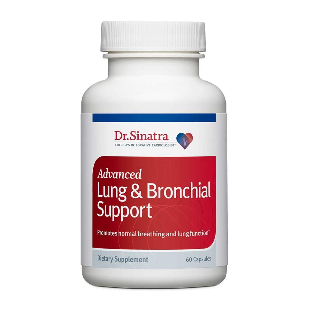 Dr. Sinatra s Advanced Lung Bronchial Support Vitamins for Lung Health Support, Clear Breathing and Lung Function 60 Capsules, 30-Day Supply
