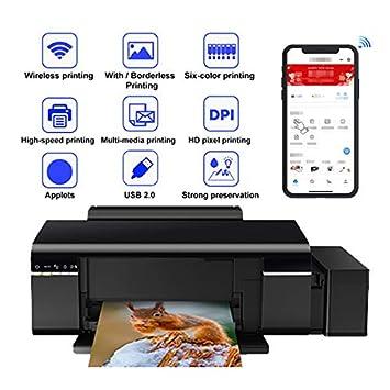 TANCEQI Impresora Multifunción 6 Colores(Tinta, Wi-Fi, USB, Copiar ...