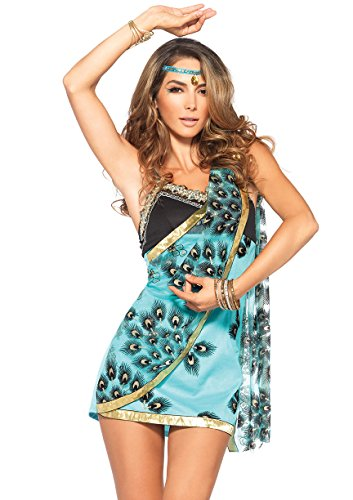 Leg Avenue Women's 2 Piece Sari Siren Costume, Teal, Medium