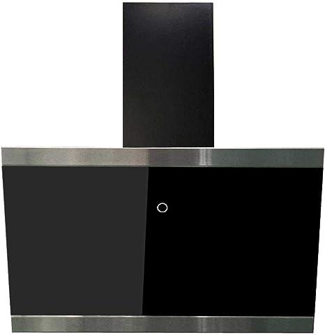 Respekta Dunstabzugshaube Schr/äghaube kopffrei Edelstahl Glas schwarz 60 cm LED