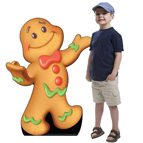 3 ft. 10 in. Candy Land Gingerbread Man Standee Standup Photo Booth Prop Background Backdrop Party Decoration Decor Scene Setter Cardboard Cutout - Gingerbread Birthday Party