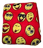Emoji Faces Red Round Velvet Throw Blanket Kids Plush Soft Toy Toddlers Teens Emojies Expressions WILL Vary 50