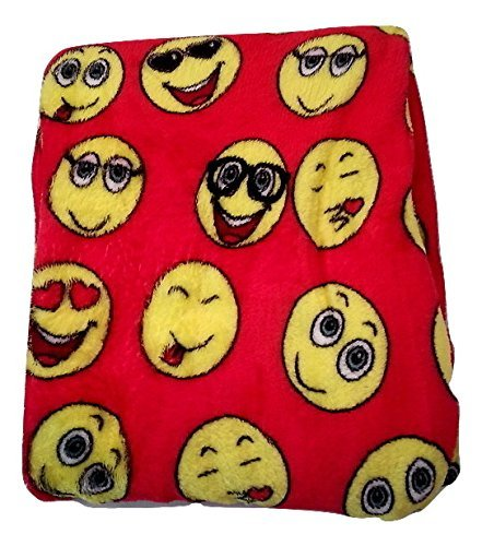 Emoji Fleecy Blanket - Red