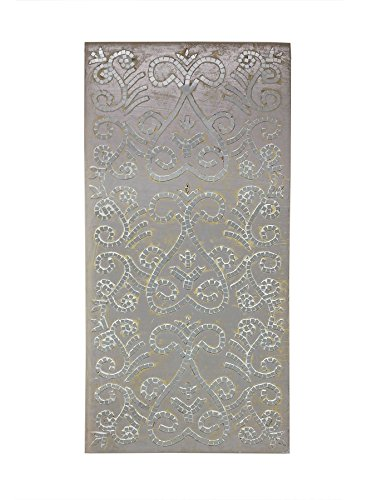 Fetco Rahan Mosaic Decorative Wall Art, Silver (Mosaic Decor Wall)
