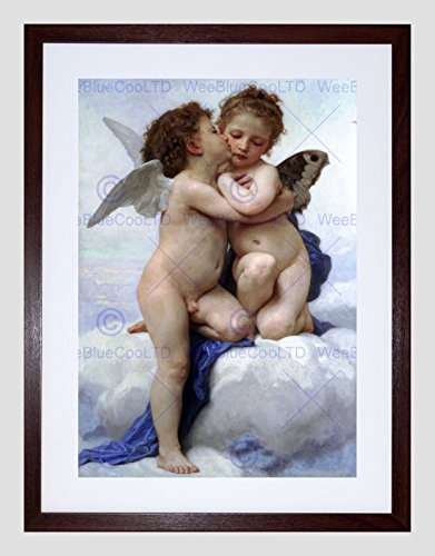 William Adolphe Bouguereau First KISS Old Master Framed Art Print B12X2294