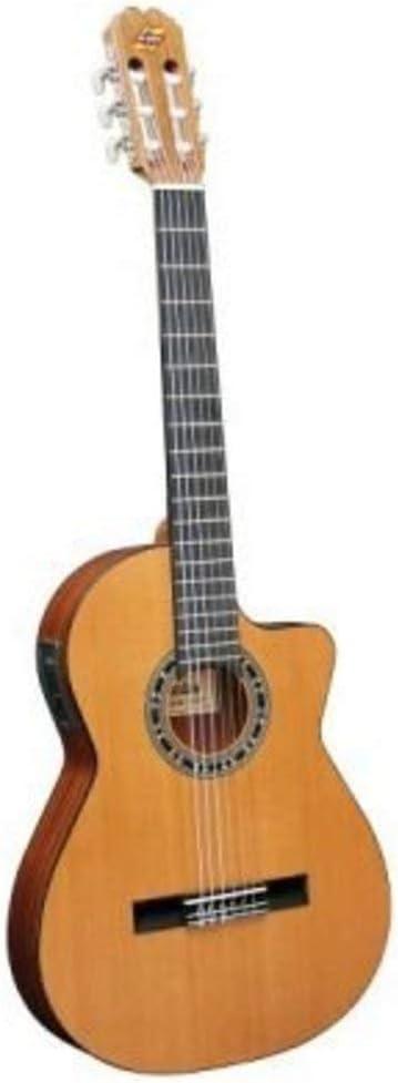 Admira - Guitarra Malaga Electrificada Cutaway Estrecha Fishman ...
