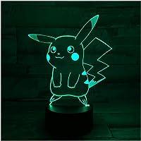 3D Nachtlampje Illusie Lamp LED Lichten Pikachu 7 Kleuren Afstandsbediening Touch Tafellamp Decoraties…