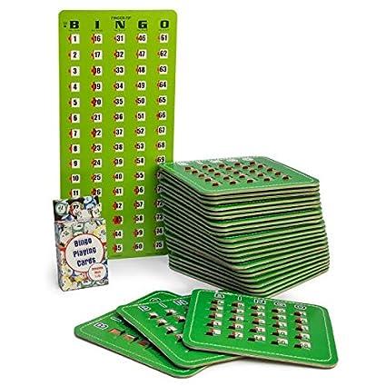 Amazon.com: Juego de bingo Juego con 50 obturador Slide ...