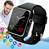 Amokeoo Smart Watch,Android Smartwatch Touch Screen Bluetooth Smart Watch for Android Phones Waterproof Wrist Phone Watch with SIM Card Slot & Camera,Sports Fitness Tracker Watch for Men Women Kids