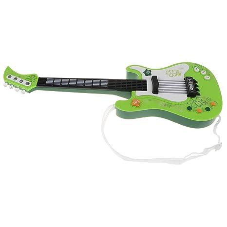 KESOTO Juguete de Instrumento Musical de Guitarra Eléctrica Regalo de Cumpleaños Navidad para Niños - Verde