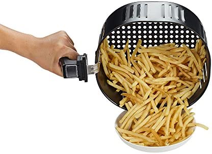 GoWISE USA 1700-Watt 5.8-QT 8-in-1 Digital Air Fryer with Recipe Book, Black