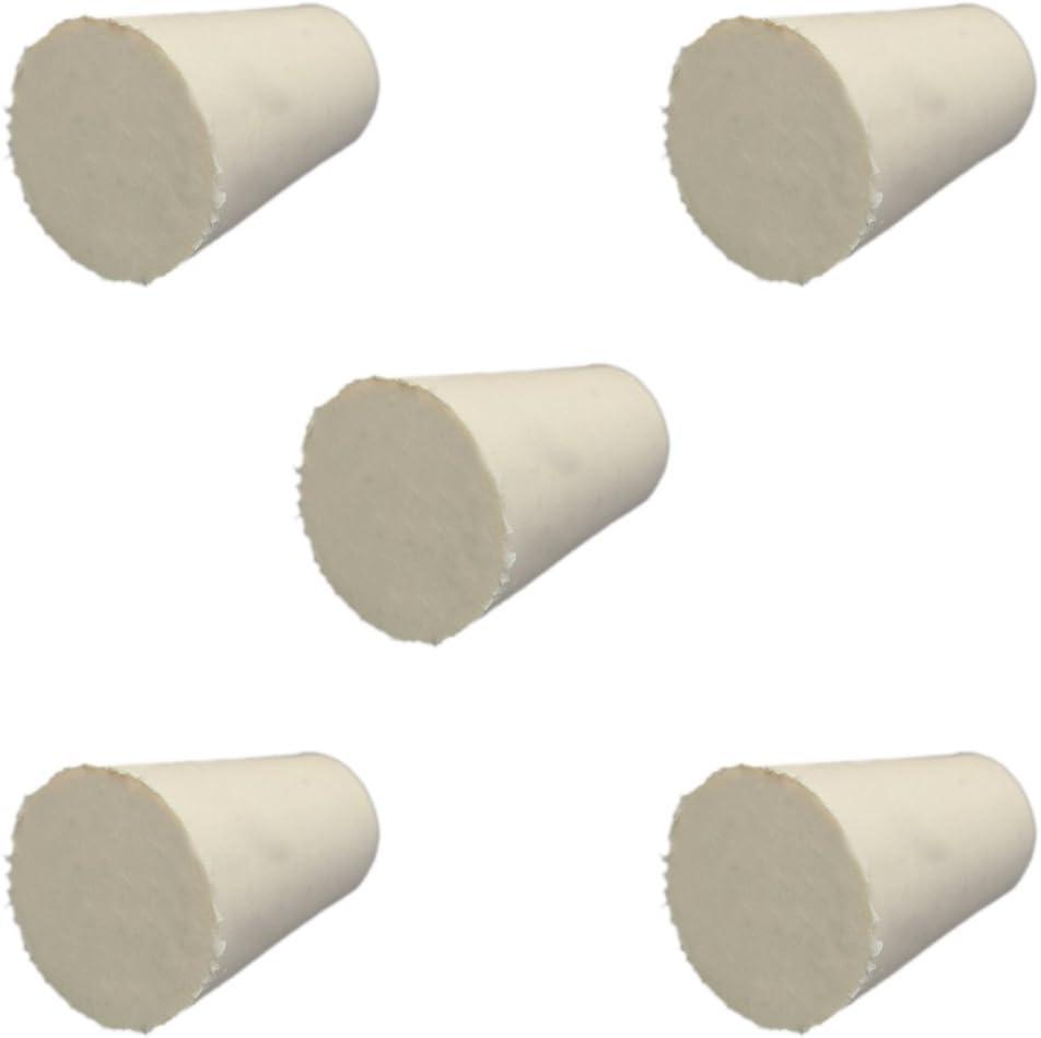 3 # 5pcs Bouchon Laboratoire Bondes Flacon Tube Effil/é Branche En Caoutchouc 23x17x26mm