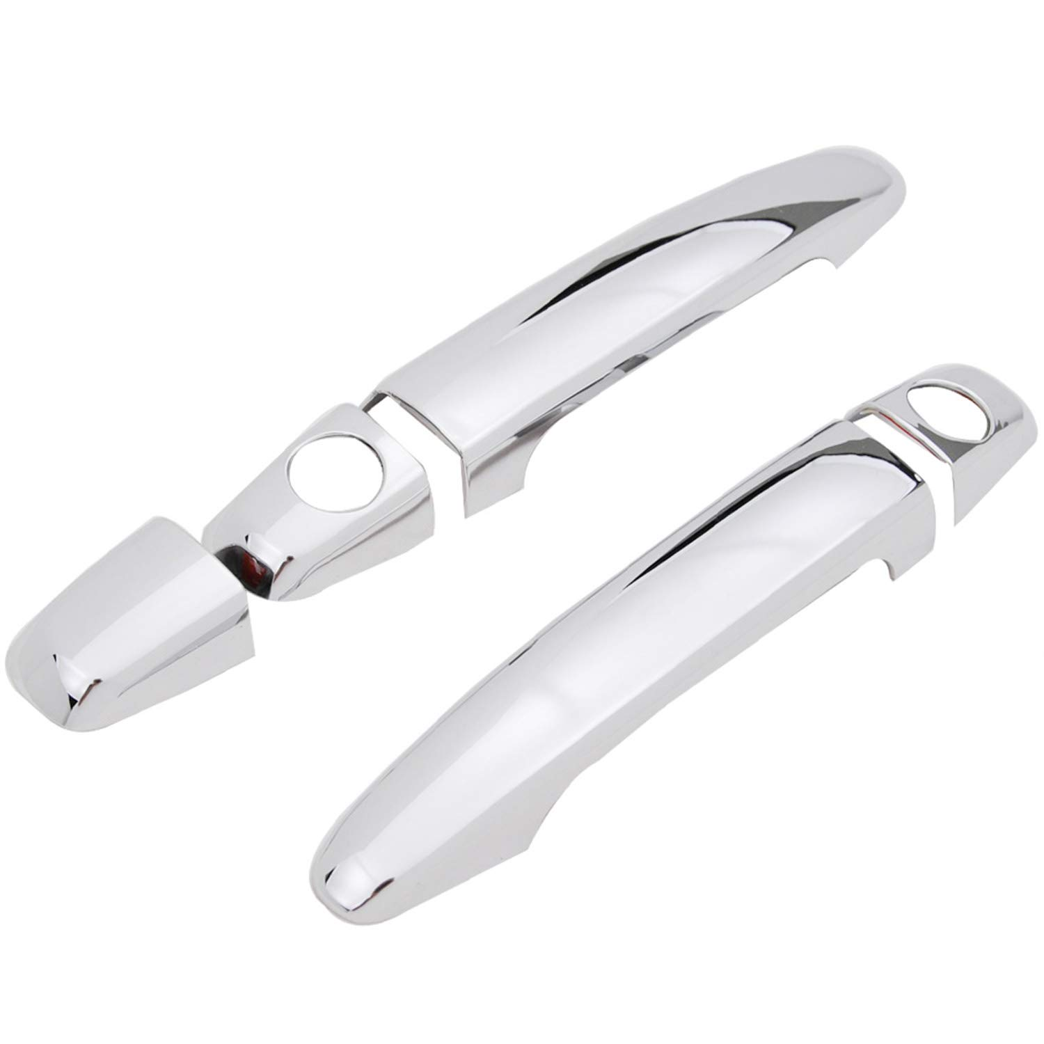 EAG 2 Door Handle Cover Triple Chrome Plated ABS Overlay without Smart Key Fit for 05-15 Toyota Tacoma//03-09 4Runner//07-11 Camry//08-13 Highlander//05-12 Avalon//04-10 Sienna Standard