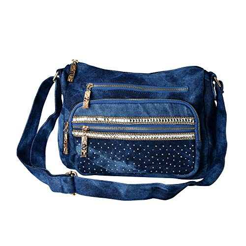Blue Jean Birkin - Blue jeans crossbody bag handbag with the fashionable design of glass and diamond are available for multi-layer ladies bag