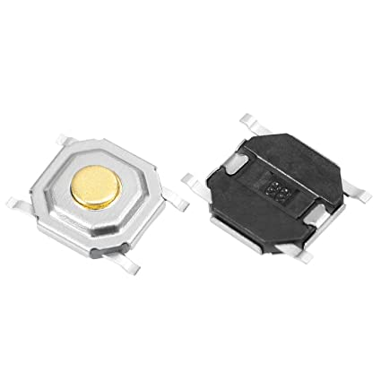 uxcell 20PCS 5x5x1 5mm Size Momentary Panel PCB SMD SMT Mount 4 Pins Push  Button SPST Tactile Tact Switch