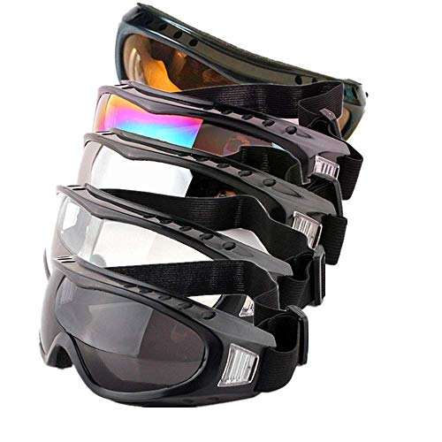 Profile Womens Atv (Dplus Motorcycle Goggles - Glasses Set of 5 - Dirt Bike ATV Motocross Anti-UV 400 Adjustable Riding Offroad Protective Combat Tactical Military Goggles for Men Women Kids Youth Adult (M))