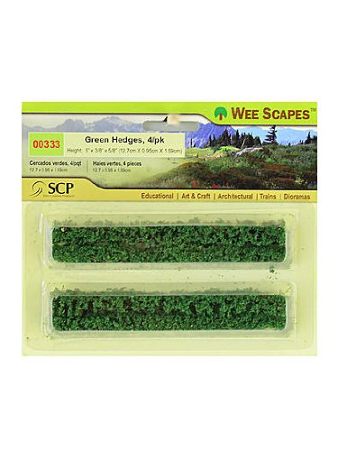 Wee Scapes Architectural Model Flowers & Hedges Green Hedges 5 in. x 3/8 in. x 5/8 in. pack of 4