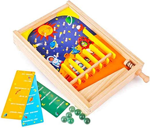 MKJYDM Juegos De Mármol Educativos para Niños Educación Temprana Juguetes De Madera Juegos De Escritorio Entre Padres E Hijos De 3 A 6 Años 21.5x35x5.2cm Juguetes Inteligentes para niños: Amazon.es: Hogar