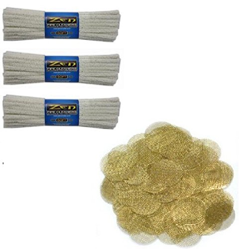 Bundle-4-Items-3-Zen-Pipe-Cleaners-Soft-132-Count-1-Set-of-50-Brass-Tobacco-Pipe-Screens-34-75