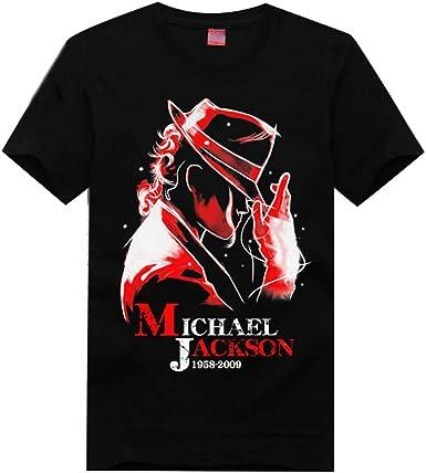 XXW Michael Jackson Michael Jackson Manga Corta Camiseta Conmemorativa Pop: Amazon.es: Ropa y accesorios