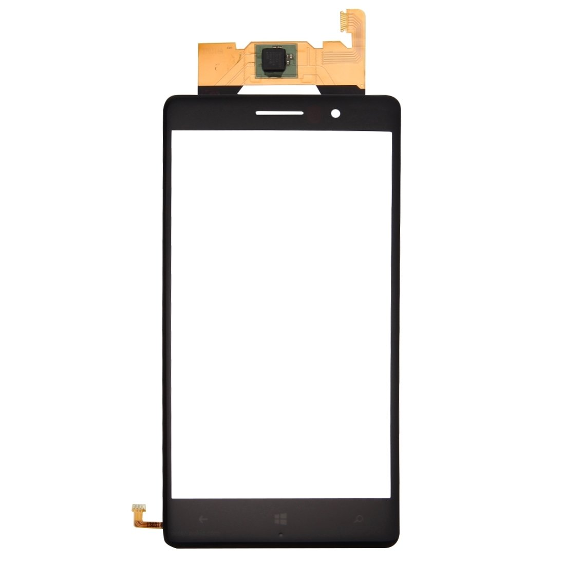 JUNXI Phone Touch Panel for Nokia Lumia 830 (Black) Full Coverage and HD Clear (Color : Black) by JUNXI
