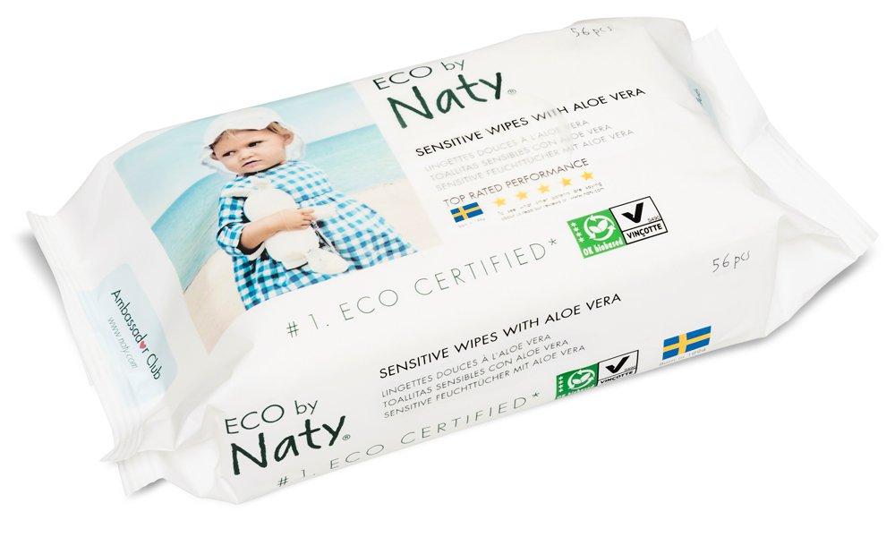 Naty By Nature Babycare - Sensitive Wipes - Toallitas húmedas con Aloe Vera - 12 x 56 toallitas: Amazon.es: Salud y cuidado personal