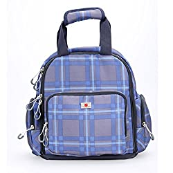 Baby Diaper Bag Backpack by Cyanb , Fashion Best Travel Backpack Diaper Bag Tote with Insulated 4 Bottle Pocket , Blue Checker