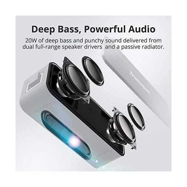 Enceinte Bluetooth Portable, Tronsmart T2 Plus Haut-Parleur sans Fil Extérieur Speaker 20W Bass e Audio Puissant, Speaker Bluetooth 5.0, Autonomie 24H, Étanche IPX7,TWS, Assistant Vocal 2