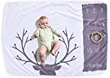 Boutique Lover Monthly Milestone Blanket Baby Buck Hunter Newborn Photography Props Boy, Premium Fleece - New Mom