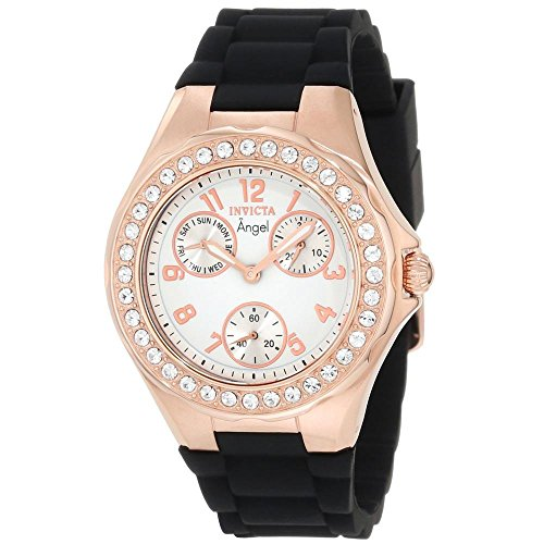 Invicta Women's 1645 Angel White Dial Crystal Accented Watch -  ADULT