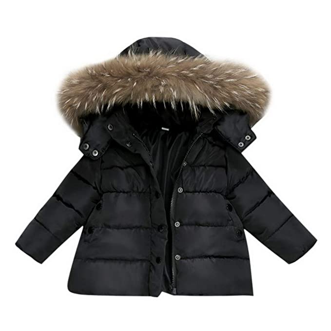 New Boys Winter Quilted Coat Toddler 0-3 Trim Hood Outerwear Warm Sport Jacket
