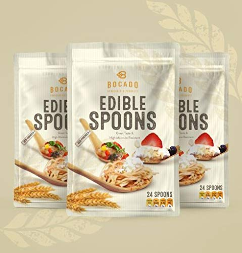 Edible Asian Spoon - Vegan and READY TO EAT (24 Spoons) by Bocado (Image #2)