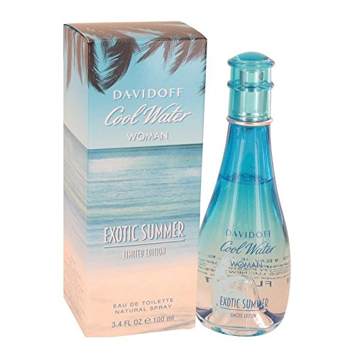 Water Summer Cool Spray (Davidoff Cool Water Exotic Summer for Women Eau de Toilette Spray, Limited Edition, 3.4 Ounce)