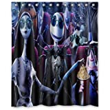 aloundi custom the nightmare before christmas waterproof polyester fabric bathroom