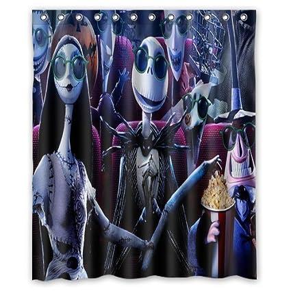 aloundi custom the nightmare before christmas waterproof polyester fabric bathroom - Nightmare Before Christmas Bathroom