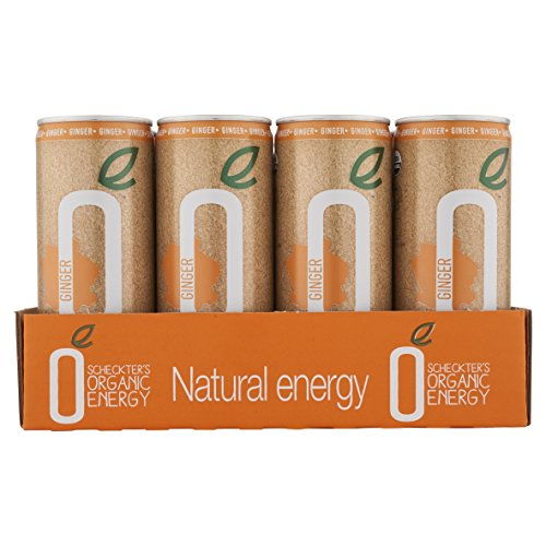 Scheckter's Organic Energy Drink, Green Tea Ginger, 8.4 Ounce (Pack of 12)