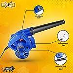 Jakmister (ANTI-VIBRATION) Unbreakable Plastic 700 W 16000RPM 90 Miles/Hour Electric Air Blower Dust PC Cleaner Forward…