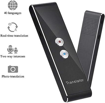 Bluetooth intelligente bidirezionale in tempo reale multi-lingua riunioni e affari. viaggi Traduttore di lingua supporta 40 lingue dispositivo di traduzione vocale intelligente per apprendere