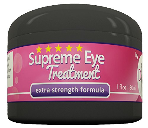 Supreme Eye Treatment Cream by DIVA Fit & Sexy - All-Natural Formula Made with Organic Aloe Gel to Remove Dark Circles, Reduce Puffiness, Ease Under Eye Bags, Repair Premature Aging Signs and Wrinkles