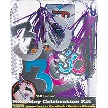 Amscan 30Th Birthday Party Supplies Kit - 6 Fun Favors