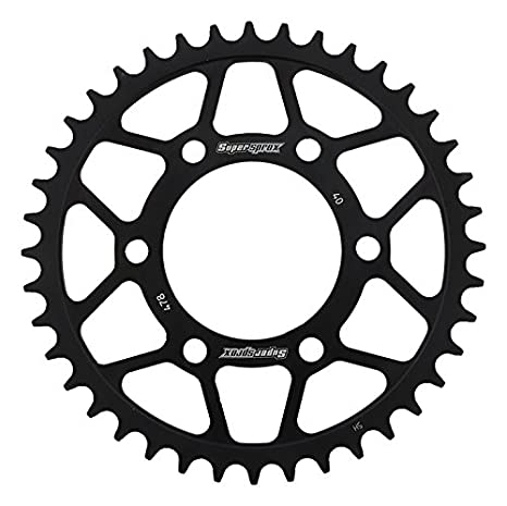 Amazon.com: Supersprox RFE-478-40-BLK Rear Steel Sprocket ...