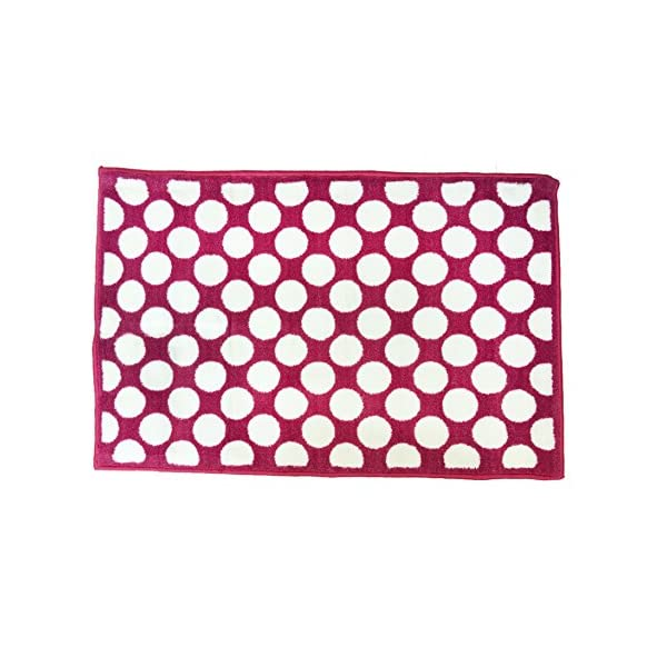 Bacati Mix N Match Large Dots Nylon High Pile Plush Rug, Pink/Fuschia, 24″ X 36″