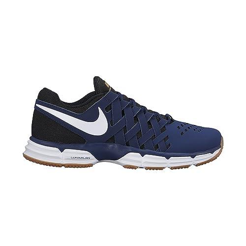 the best attitude 93ee5 9845a NIKE Mens Lunar Fingertrap TR Binary Blue White Black Size 8  Amazon.co.uk   Shoes   Bags