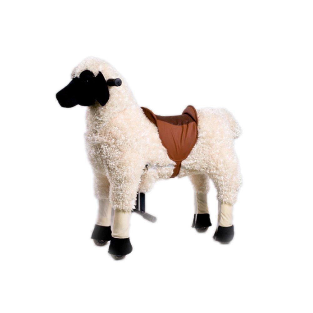 Magic Prince Reiten Auf Tier Spielzeug für Kinderfahrzeuge Schaukel Mit Rädern Und Fußstütze (klein, Ziege)