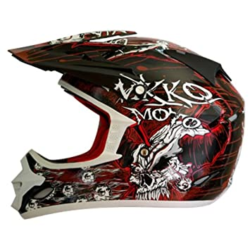 Nikko n-719 – Casco de Motocross (Talla XL), color negro/