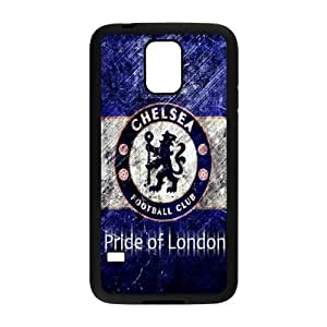 Soccer Chelsea Football Club Classic Design Print Black Case With Hard Shell Cover for SamSung Galaxy S5