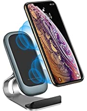 SCCVEE Wireless Charging Station, Qi 15W Max Fast Wireless Charging Stand Compatible with Samsung S21/S20 fe/Ultra/Note20, Pixel 5,LG Velvet 5g, Nokia, Xiaomi, iPhone12 pro max 11,and More(Stand)