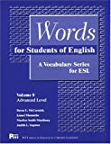 Words for Students of English, Volume 8: A Vocabulary Series for ESL (Pitt Series in English as a Second Language)